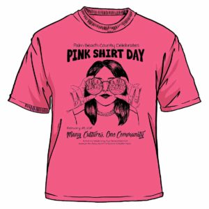 Literacy Coalition Pink Shirt Day 2018 T-Shirt Front